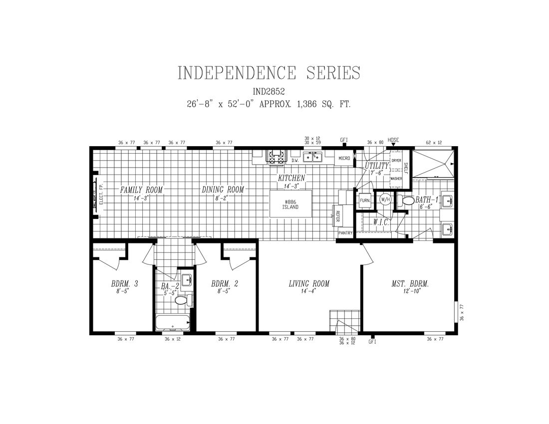 The 2852 INDEPENDENCE Floor Plan