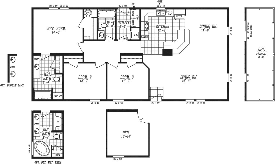 The 2021 COLUMBIA RIVER Floor Plan