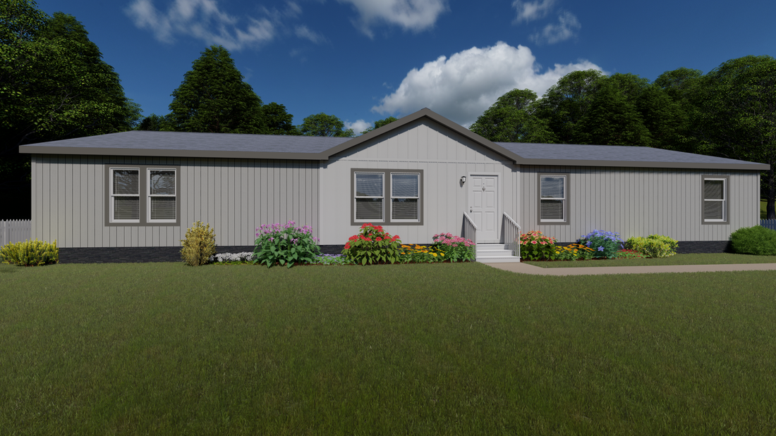 The 2026 COLUMBIA RIVER Exterior. This Manufactured Mobile Home features 4 bedrooms and 2 baths.
