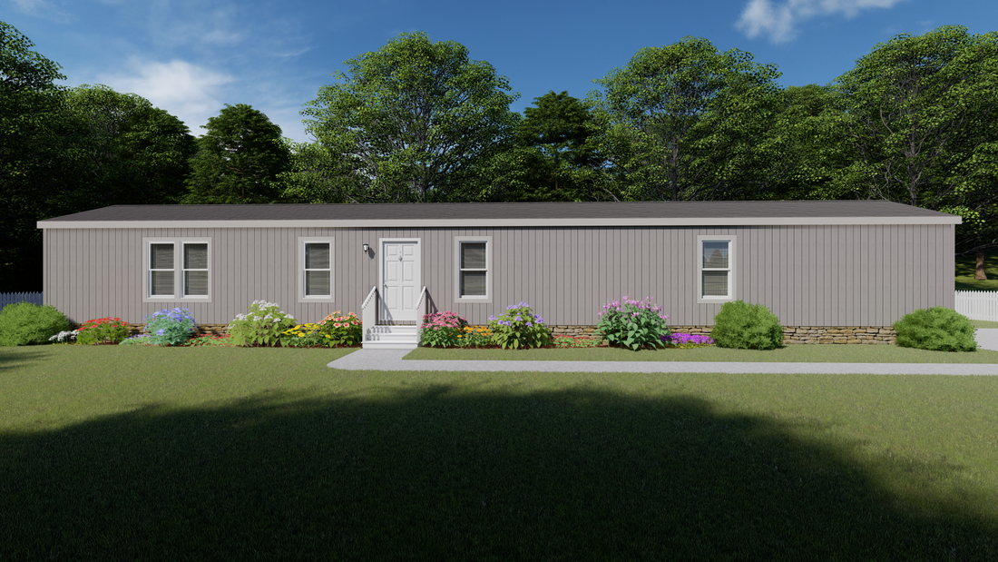 The 2009 COLUMBIA RIVER Exterior. This Manufactured Mobile Home features 3 bedrooms and 2 baths.