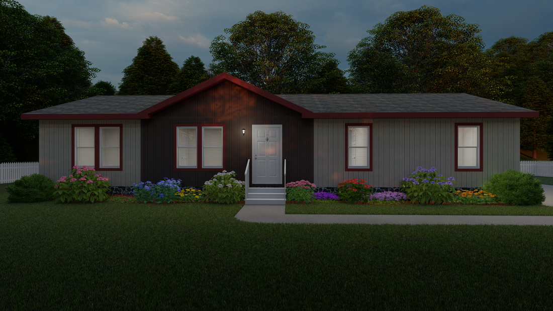 The 2022 COLUMBIA RIVER Exterior. This Manufactured Mobile Home features 3 bedrooms and 2 baths.