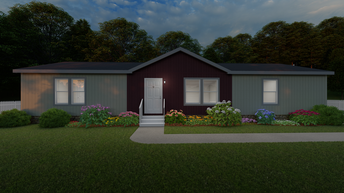 The 2024 COLUMBIA RIVER Exterior. This Manufactured Mobile Home features 3 bedrooms and 2 baths.