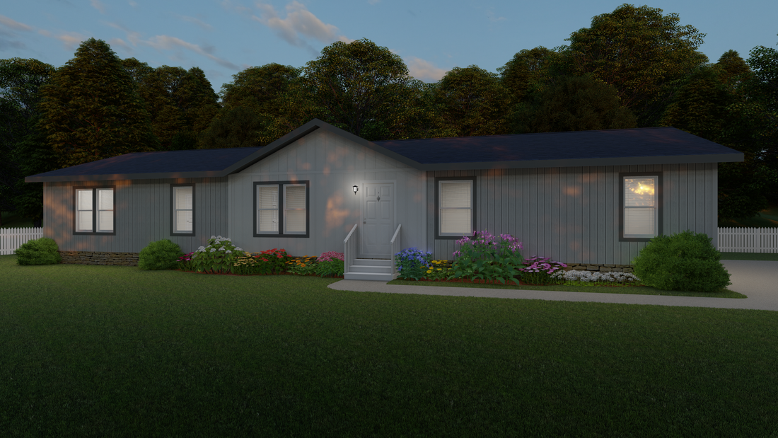 The 2025 COLUMBIA RIVER Exterior. This Manufactured Mobile Home features 4 bedrooms and 2 baths.