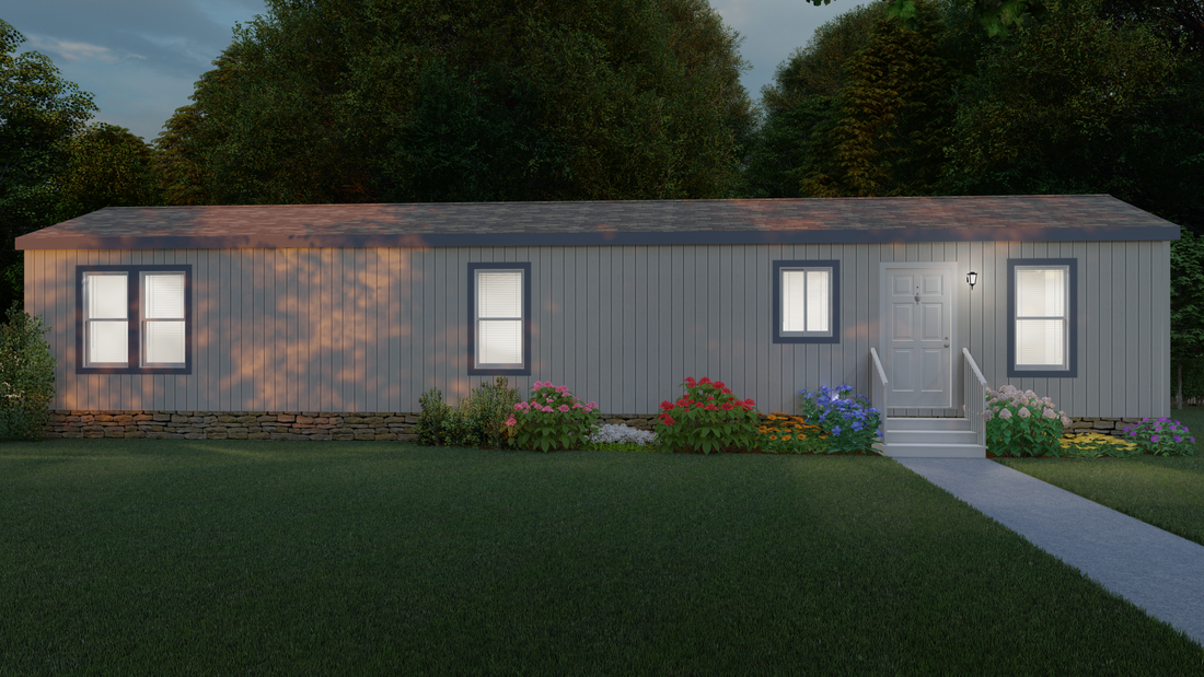 The 2006 COLUMBIA RIVER Exterior. This Manufactured Mobile Home features 2 bedrooms and 1 bath.
