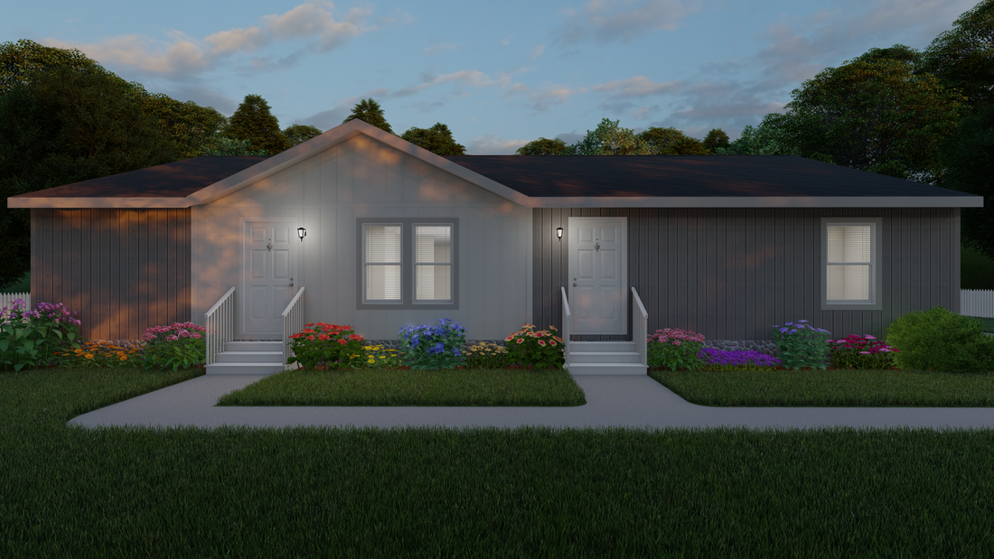 The 2027 COLUMBIA RIVER Exterior. This Manufactured Mobile Home features 4 bedrooms and 2 baths.
