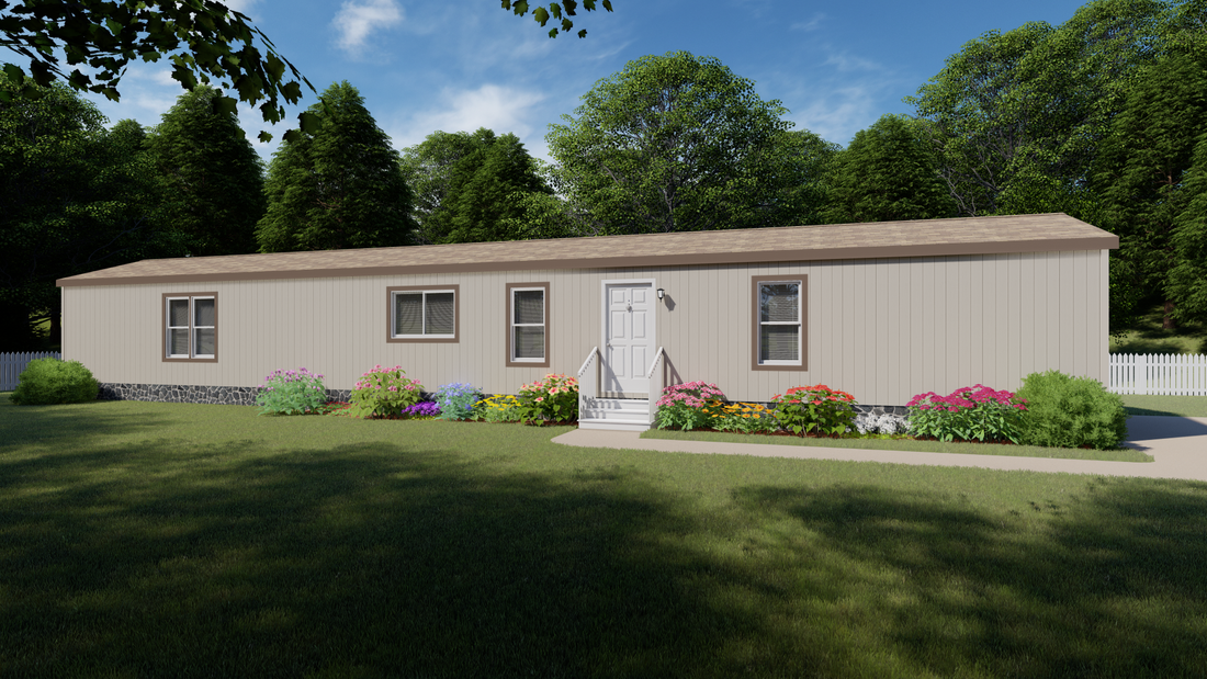 The 2012 COLUMBIA RIVER Exterior. This Manufactured Mobile Home features 3 bedrooms and 2 baths.