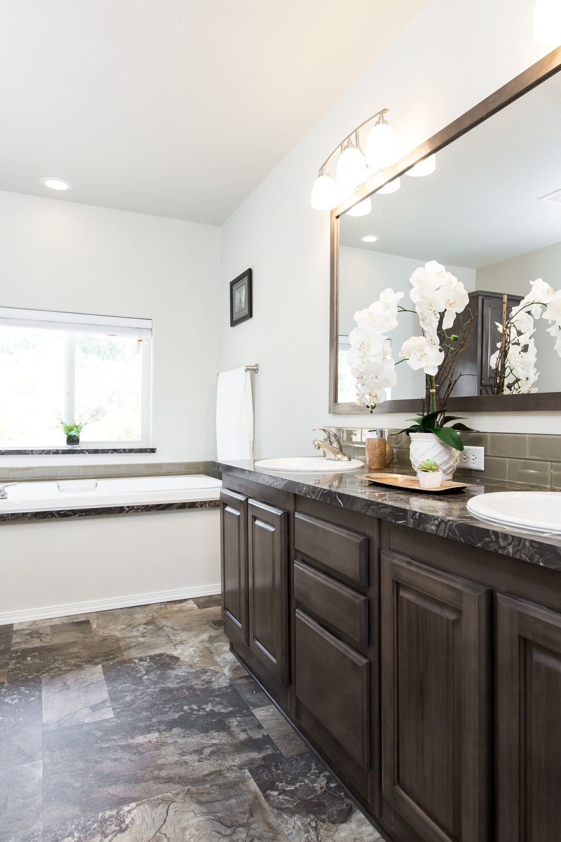The 2868 MARLETTE SPECIAL Master Bathroom. This Manufactured Mobile Home features 3 bedrooms and 2.5 baths.