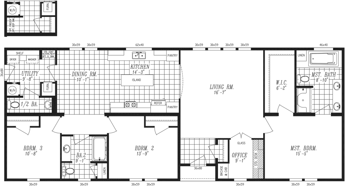 The 2868 MARLETTE SPECIAL Floor Plan