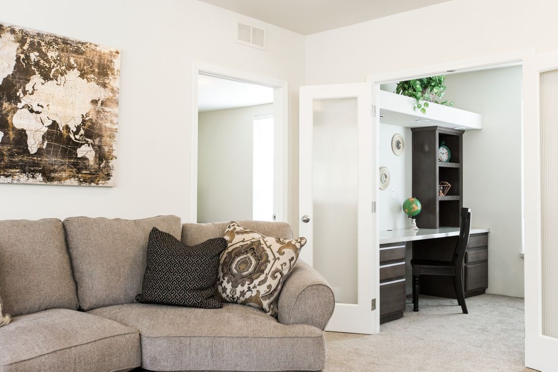 The 2868 MARLETTE SPECIAL Living Room. This Manufactured Mobile Home features 3 bedrooms and 2.5 baths.