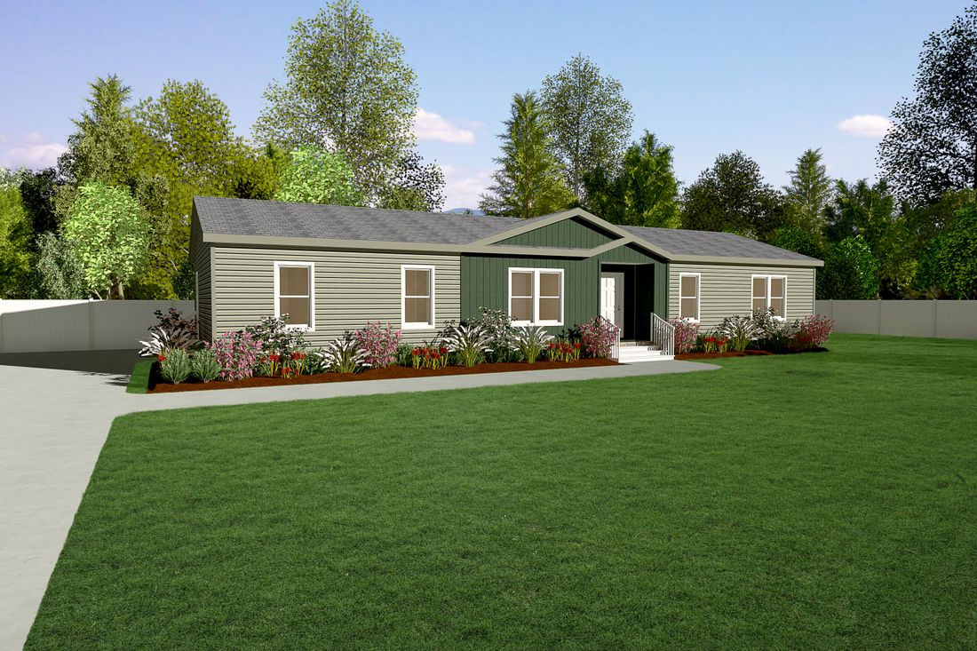 The 2868 MARLETTE SPECIAL Exterior. This Manufactured Mobile Home features 3 bedrooms and 2.5 baths.