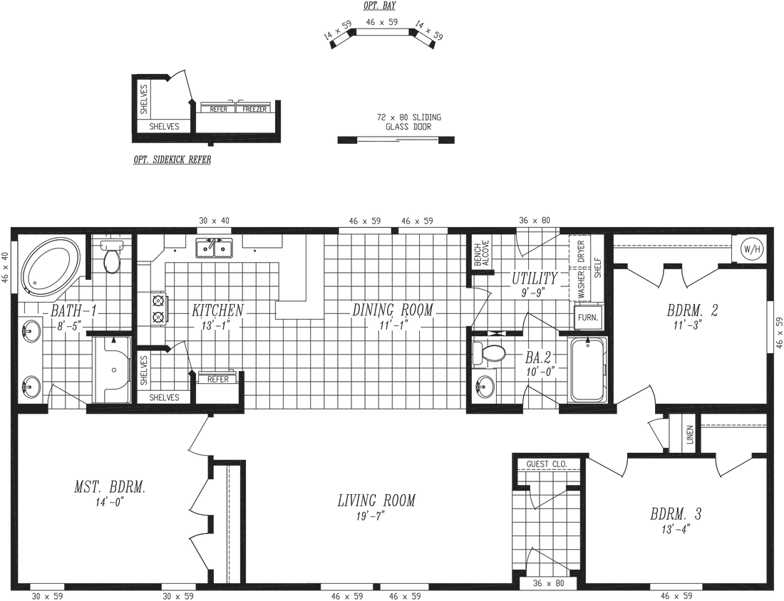 The 9591S GRAND TETON Floor Plan