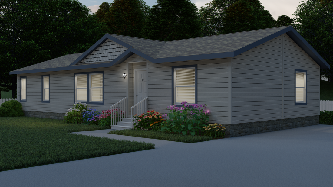 The 9591S GRAND TETON Exterior. This Manufactured Mobile Home features 3 bedrooms and 2 baths.