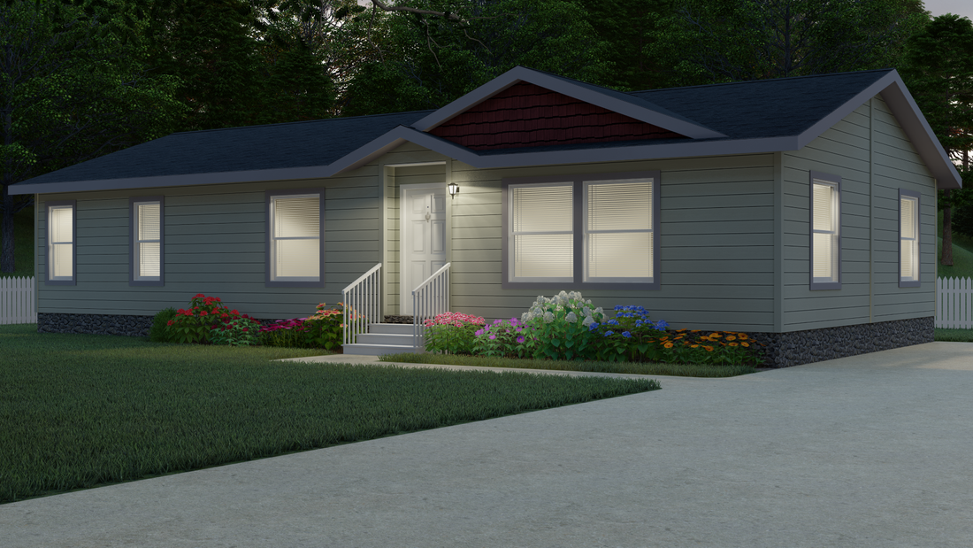 The 9590S BLACKMORE Exterior. This Manufactured Mobile Home features 3 bedrooms and 2 baths.
