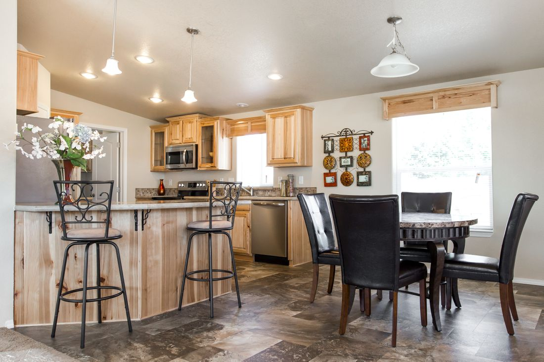 The 9590S BLACKMORE Kitchen. This Manufactured Mobile Home features 3 bedrooms and 2 baths.
