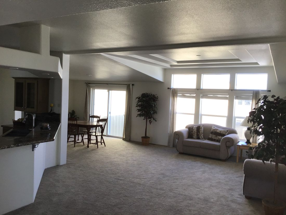 The 9593S         WASHINGTON Living Room. This Manufactured Mobile Home features 3 bedrooms and 3 baths.
