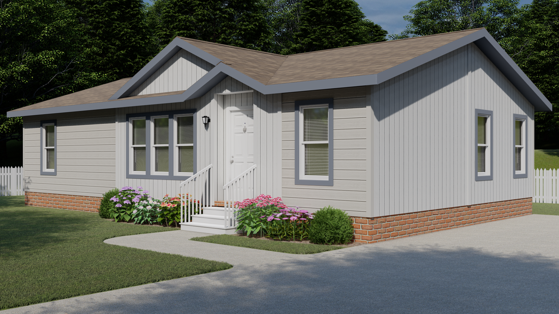 The 2844 MARLETTE SPECIAL Exterior. This Manufactured Mobile Home features 3 bedrooms and 2 baths.