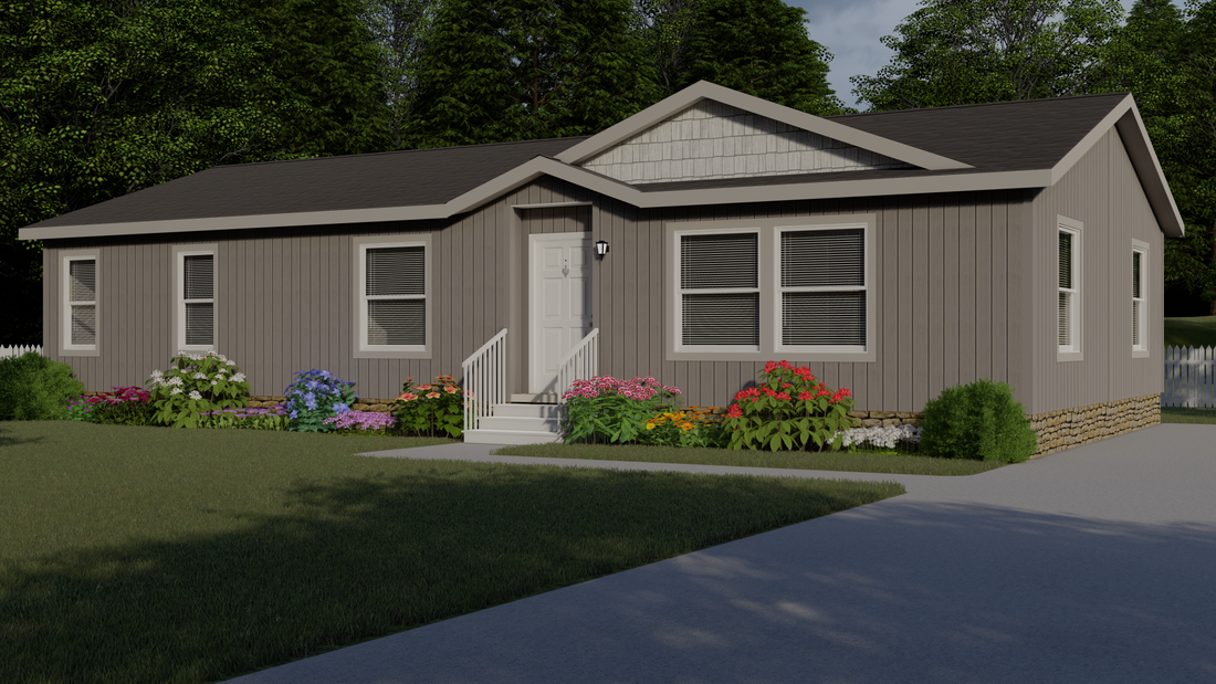 The 9598S BAKER Exterior. This Manufactured Mobile Home features 3 bedrooms and 2 baths.