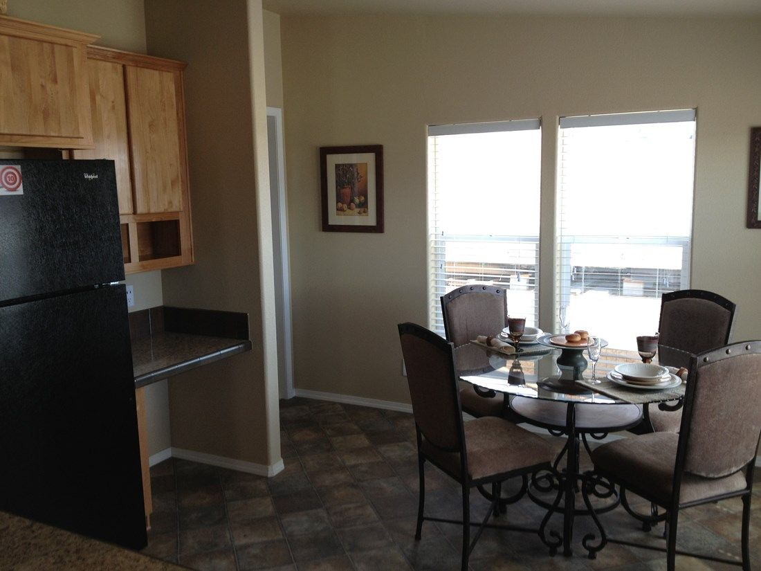 The 2848 MARLETTE SPECIAL Dining Room. This Manufactured Mobile Home features 3 bedrooms and 2 baths.