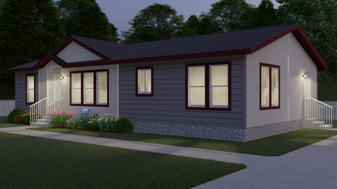 The 2848 MARLETTE SPECIAL Exterior. This Manufactured Mobile Home features 3 bedrooms and 2 baths.