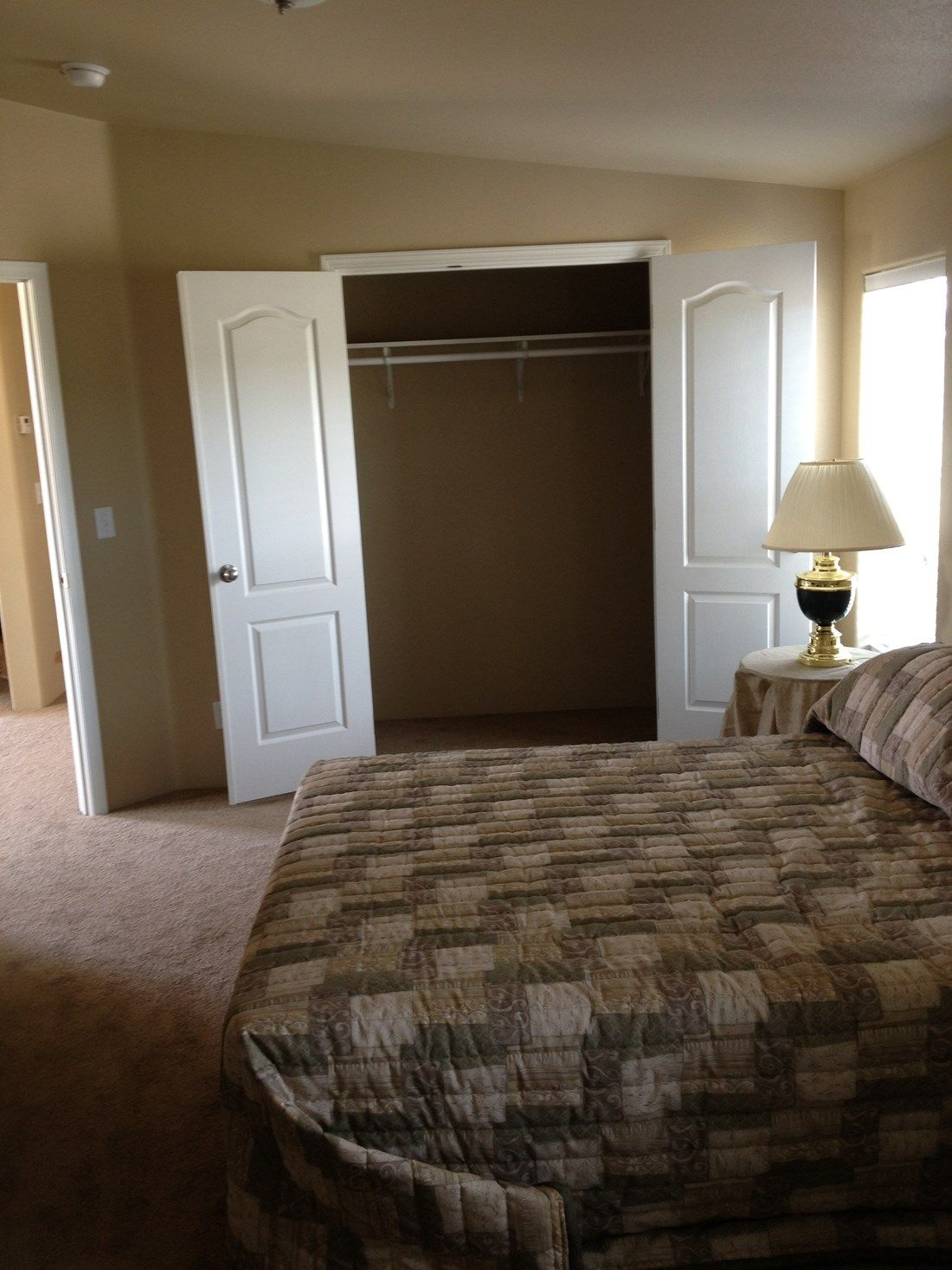 The 2848 MARLETTE SPECIAL Master Bedroom. This Manufactured Mobile Home features 3 bedrooms and 2 baths.