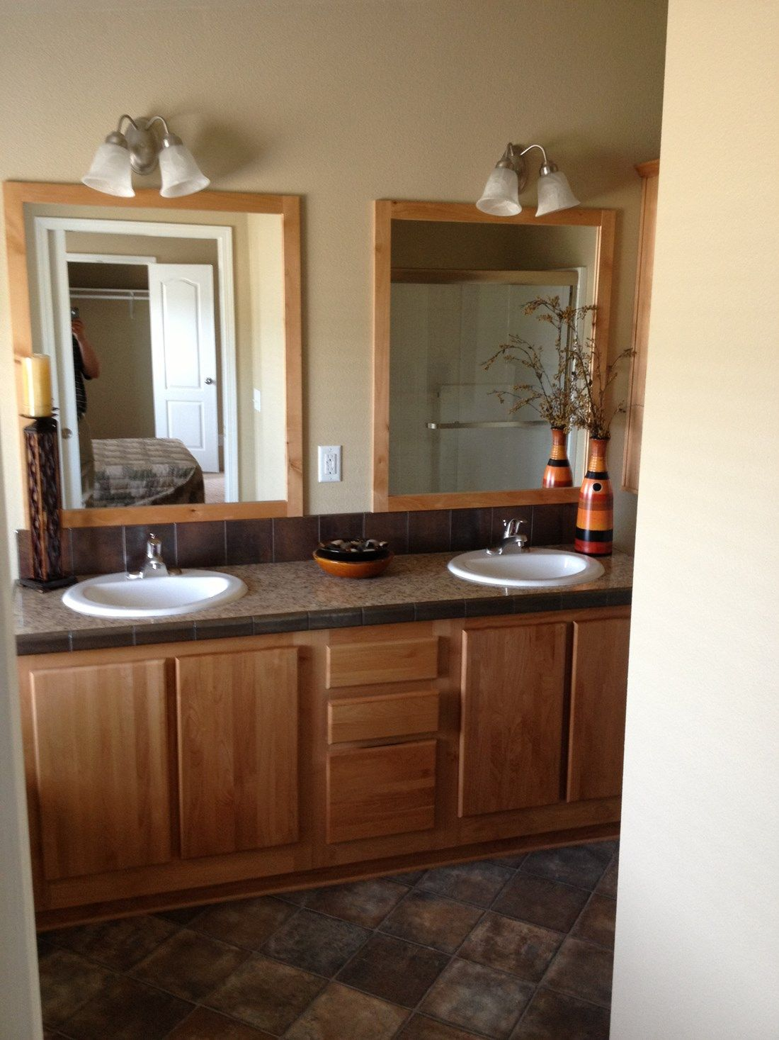 The 2848 MARLETTE SPECIAL Master Bathroom. This Manufactured Mobile Home features 3 bedrooms and 2 baths.