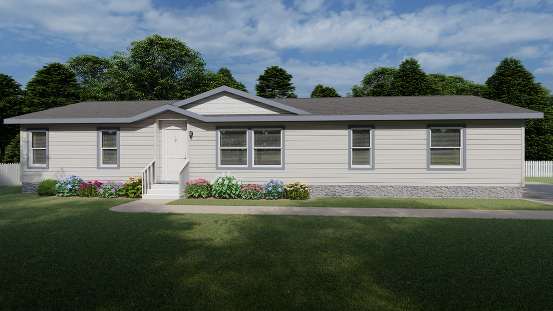 The 9597S GLACIER PEAK Exterior. This Manufactured Mobile Home features 3 bedrooms and 2 baths.