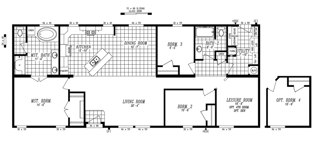 The 9597S GLACIER PEAK Floor Plan