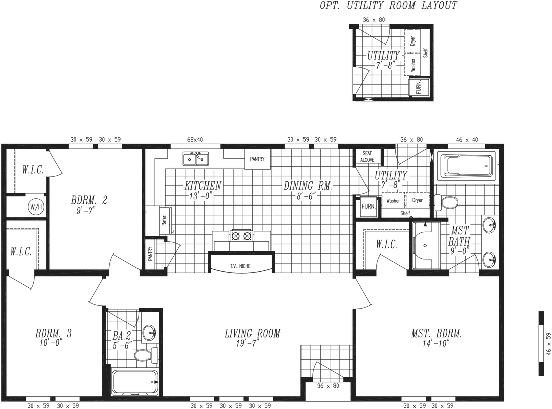 The 2852 MARLETTE SPECIAL Floor Plan