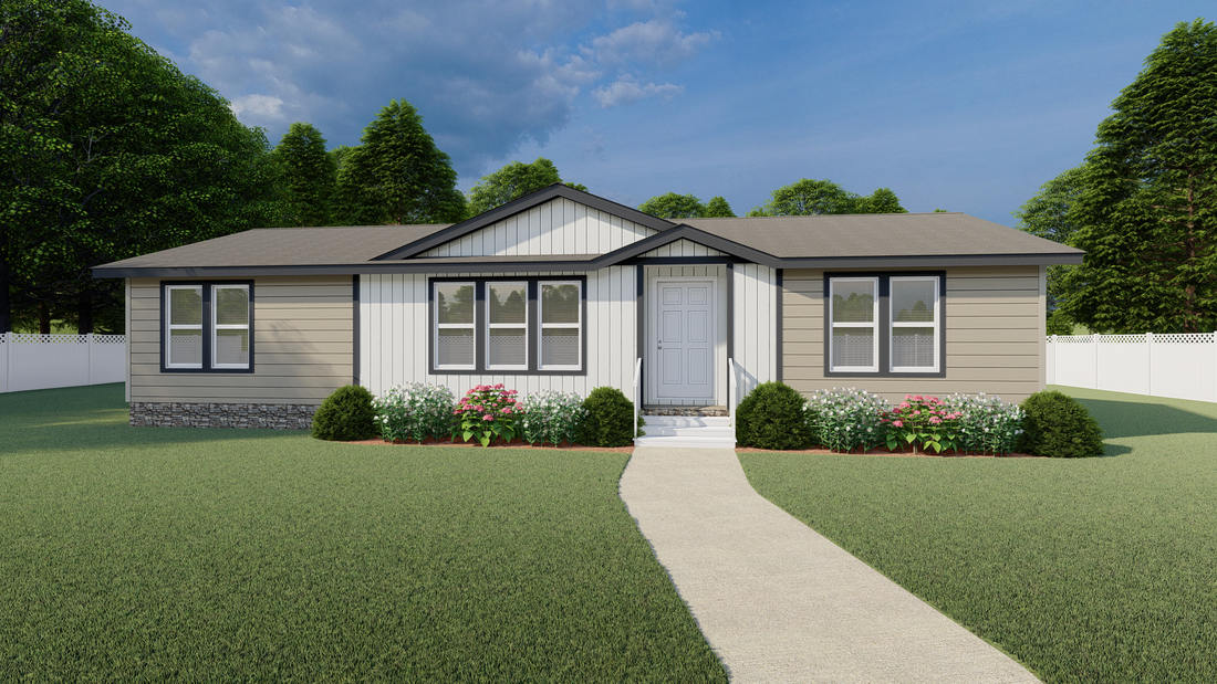 The 2852 MARLETTE SPECIAL Exterior. This Manufactured Mobile Home features 3 bedrooms and 2 baths.