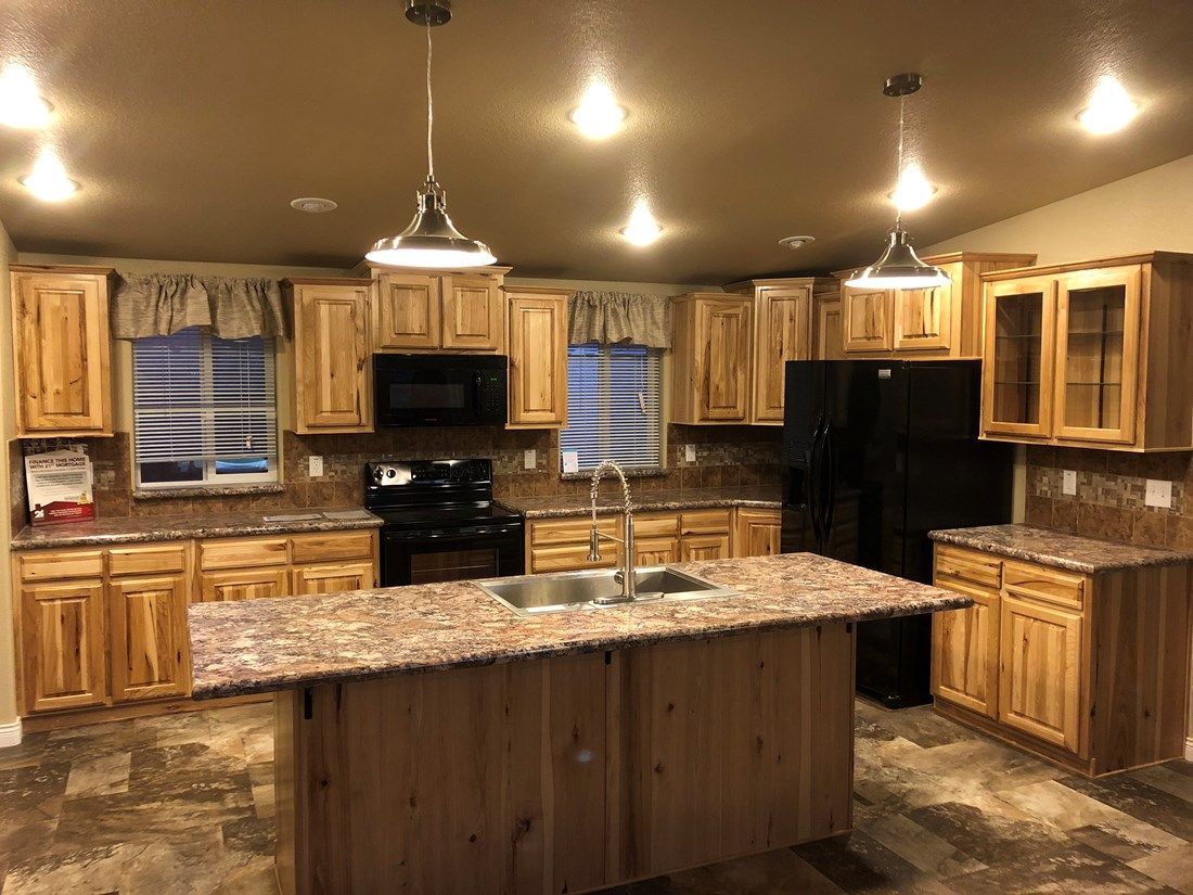 The 9588S SAINT HELENS Kitchen. This Manufactured Mobile Home features 3 bedrooms and 2 baths.