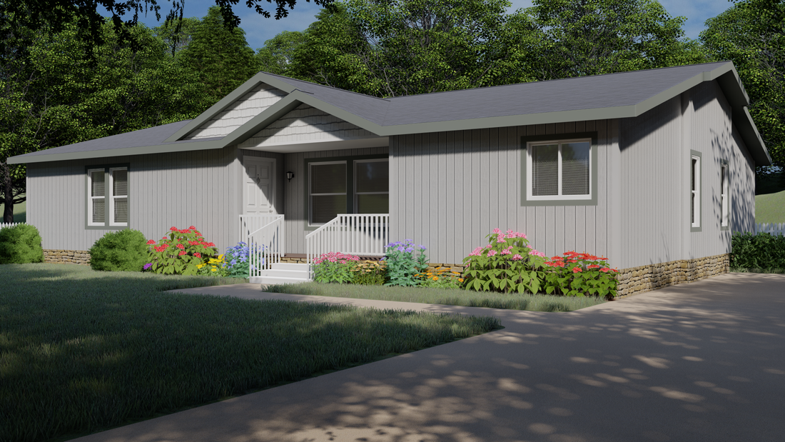 The 9588S SAINT HELENS Exterior. This Manufactured Mobile Home features 3 bedrooms and 2 baths.